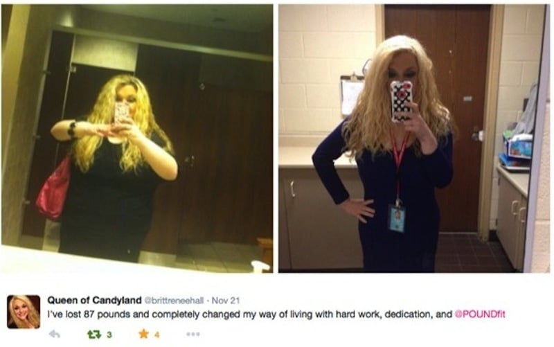 Check out Brittany's Transformation with POUND!