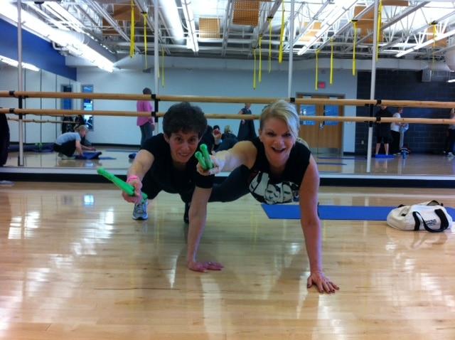 Kathy and Renee Kasman POUNDING!